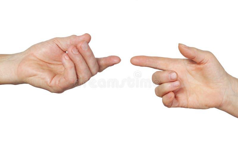 Mains mâles et femelles d'isolement photographie stock libre de droits
