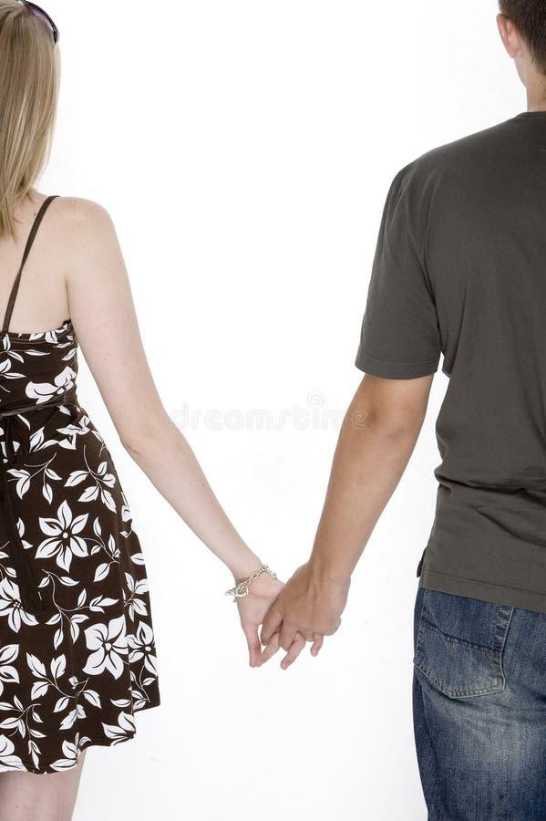 Mains mignonnes de fixation de couples photo libre de droits