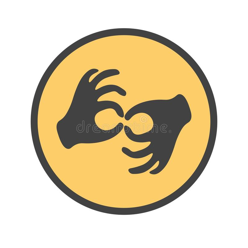 Mains montrant le geste sourd illustration libre de droits