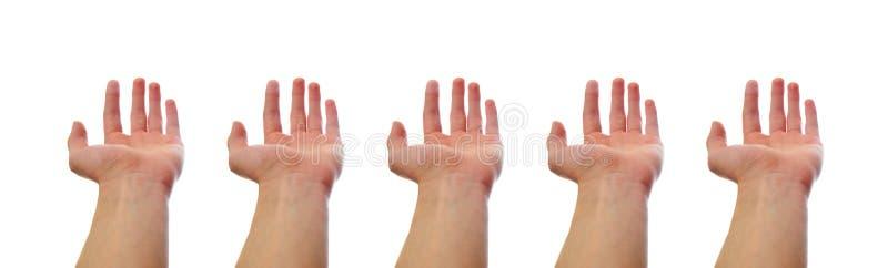 Mains ne retenant rien photographie stock libre de droits