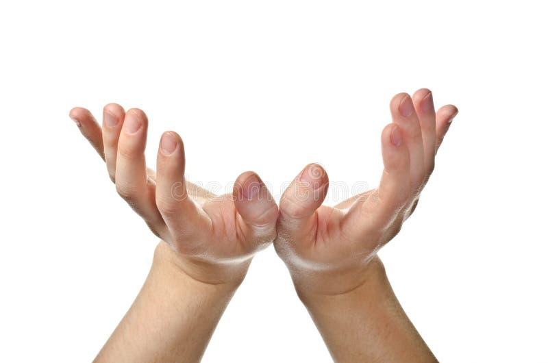 Mains ouvertes de mâle image stock