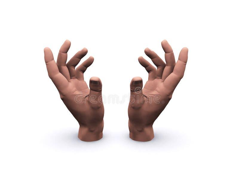 Mains retenant l'espace vide images libres de droits