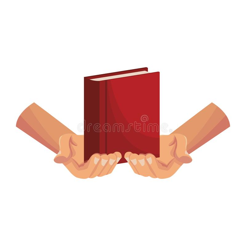 Mains retenant la bible illustration de vecteur