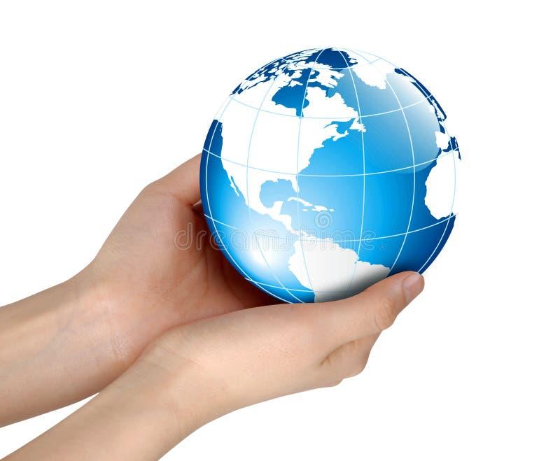 mains retenant le monde image libre de droits