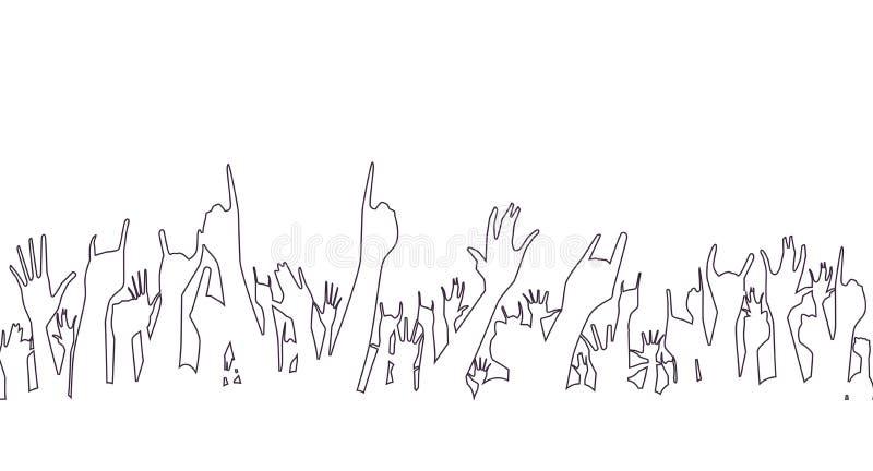 Mains se dirigeant dans l'air illustration stock