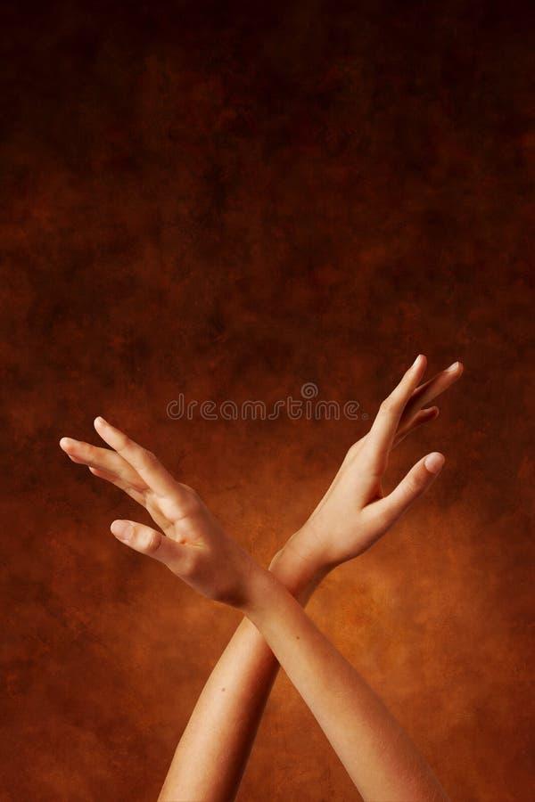 Mains spirituelles images stock