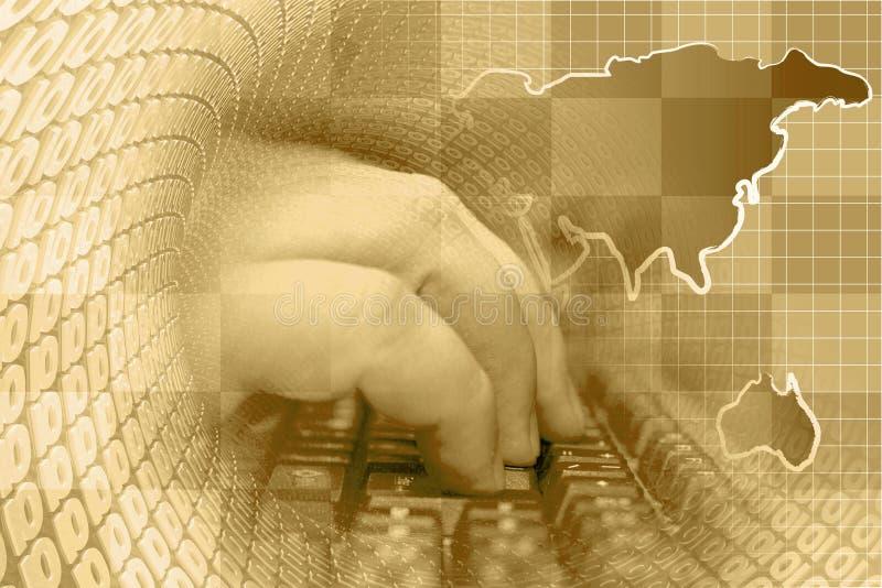 Mains sur le clavier illustration stock