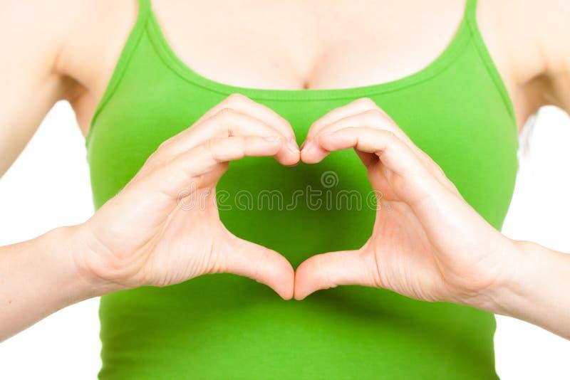 Mains symboling le coeur d'amour image libre de droits