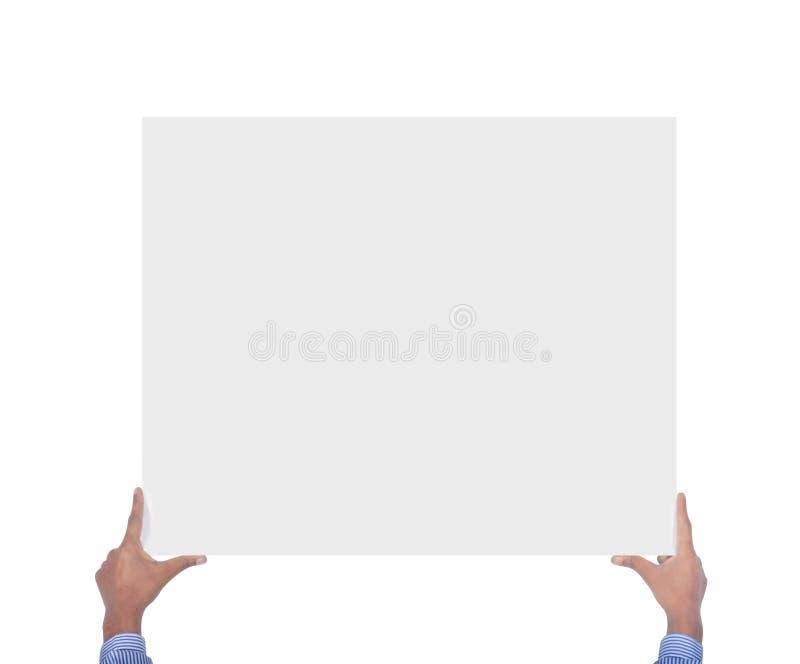 mains tenant la carte image libre de droits