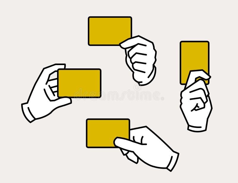 mains tenant la carte illustration stock