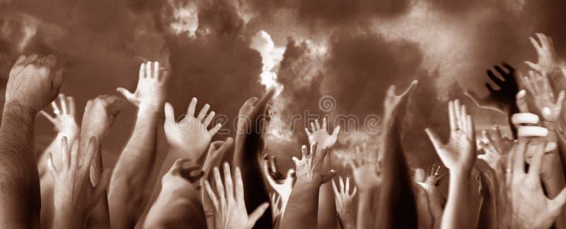 mains vers le haut photos libres de droits