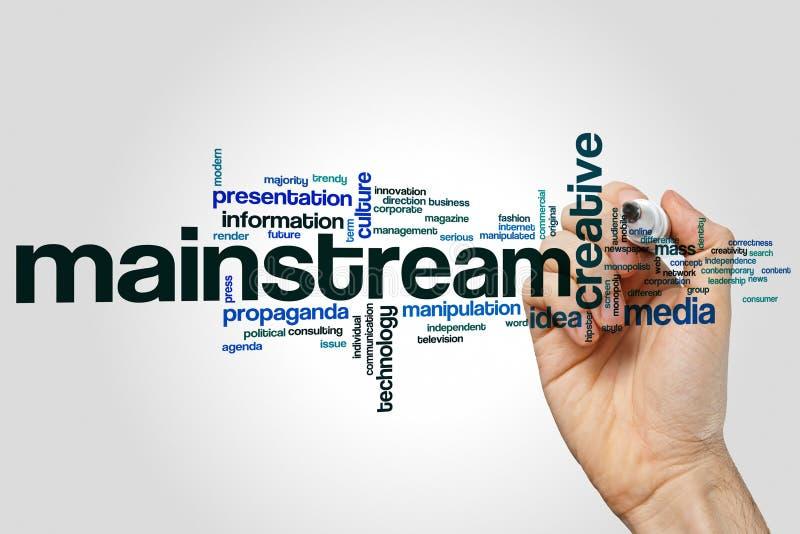 Mainstream word cloud royalty free stock photos