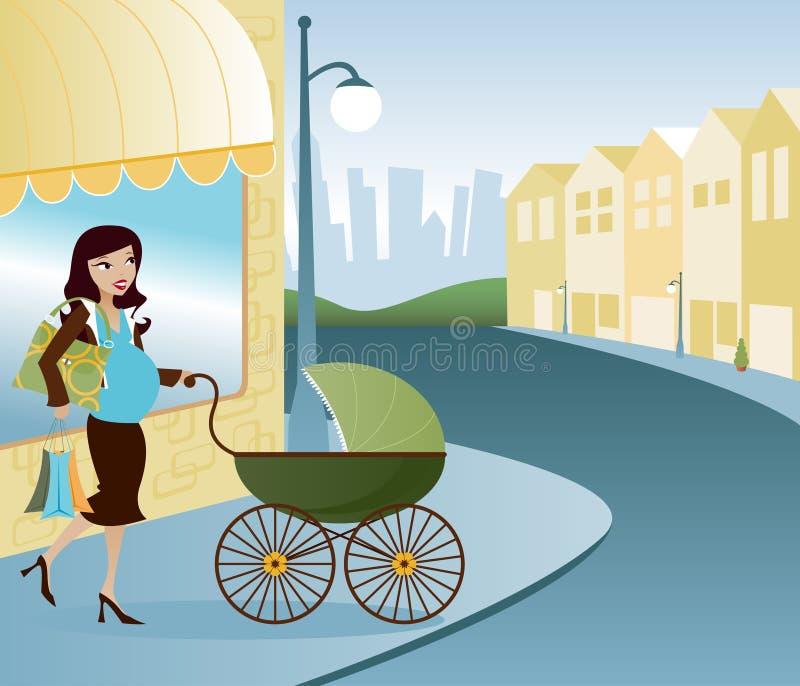 Mainstreet Mama royalty free illustration