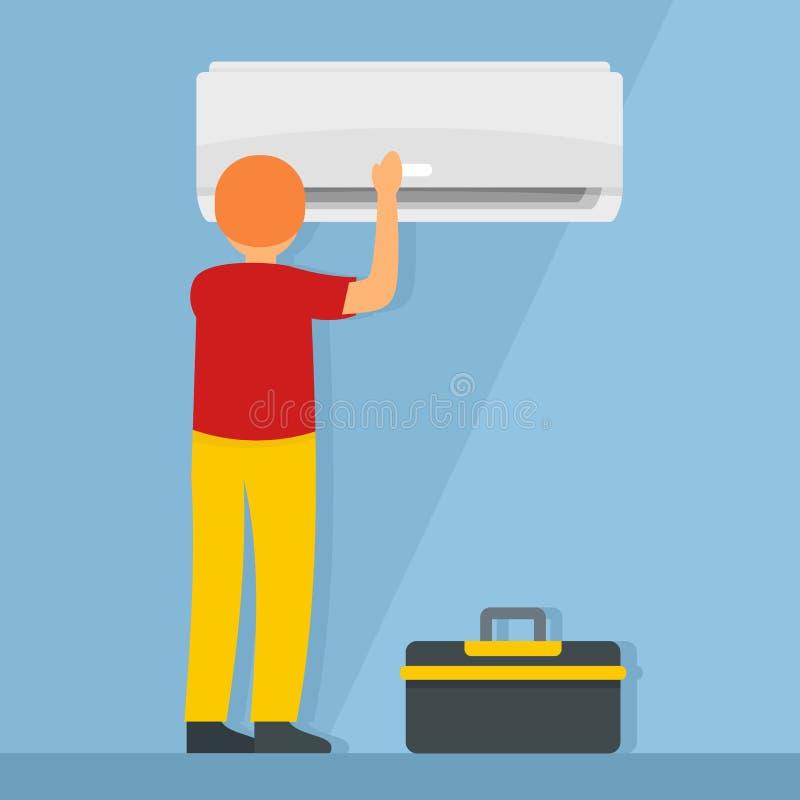Maintance conditioner background, flat style. Maintance conditioner background. Flat illustration of maintance conditioner vector background for web design vector illustration