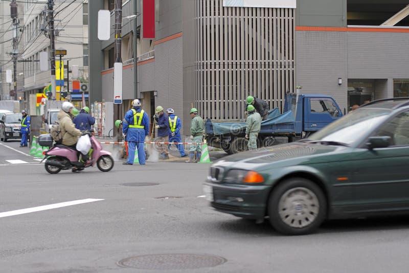 Maintenance de route photos libres de droits