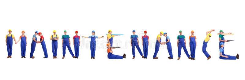 Maintenance group stock image