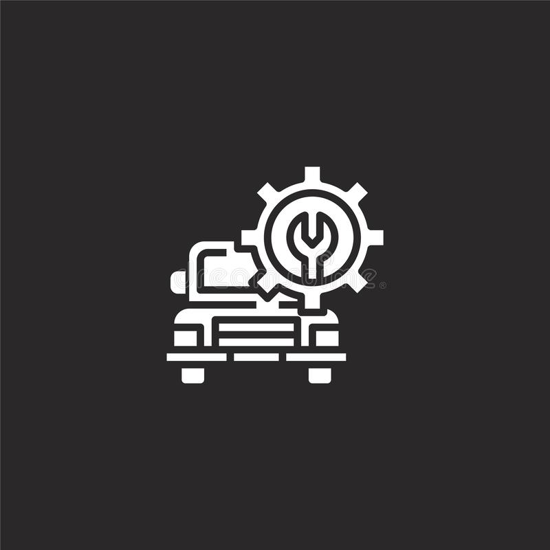 maintenance icon. Filled maintenance icon for website design and mobile, app development. maintenance icon from filled car service vector illustration