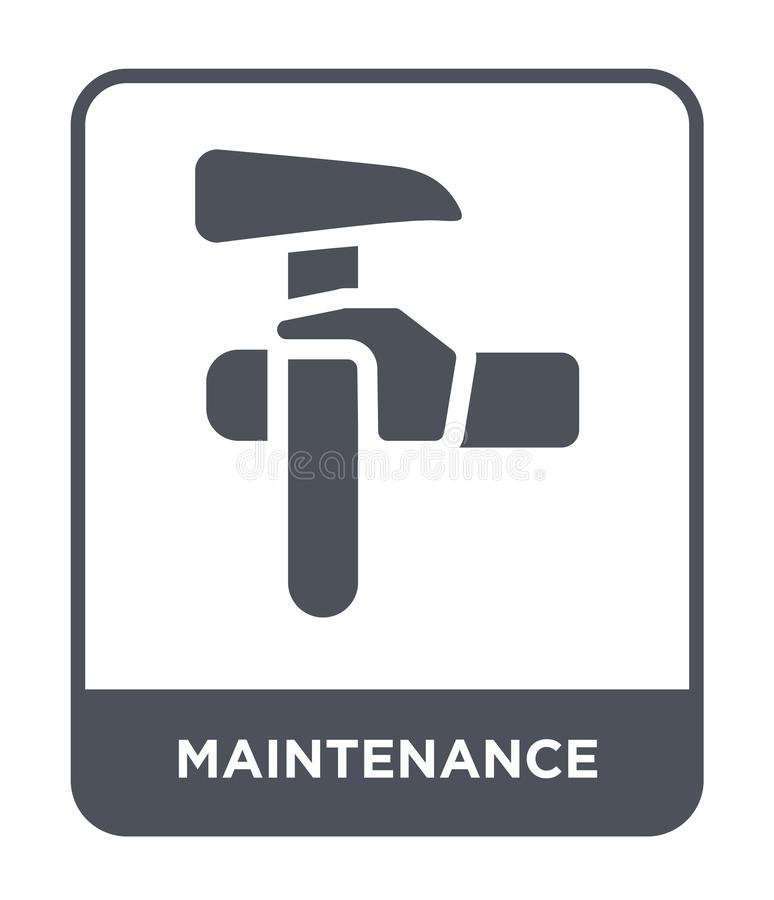 Maintenance icon in trendy design style. maintenance icon isolated on white background. maintenance vector icon simple and modern. Flat symbol for web site royalty free illustration