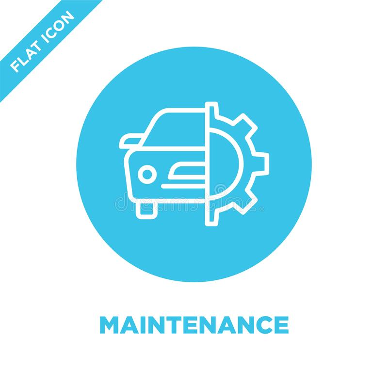 Maintenance icon vector. Thin line maintenance outline icon vector illustration.maintenance symbol for use on web and mobile apps. Logo, print media stock illustration