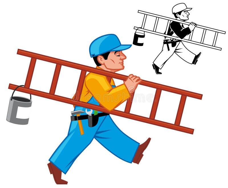 Download Maintenance man stock illustration. Illustration of walk - 18865188