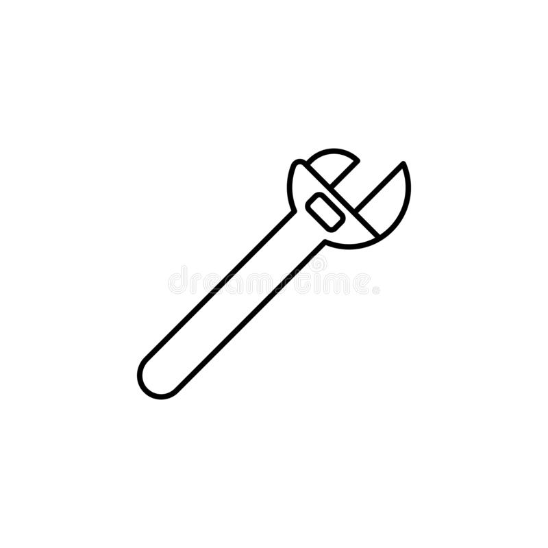 maintenance, wrench icon. Simple thin line, outline vector of Construction tools icons for UI and UX, website or mobile royalty free illustration