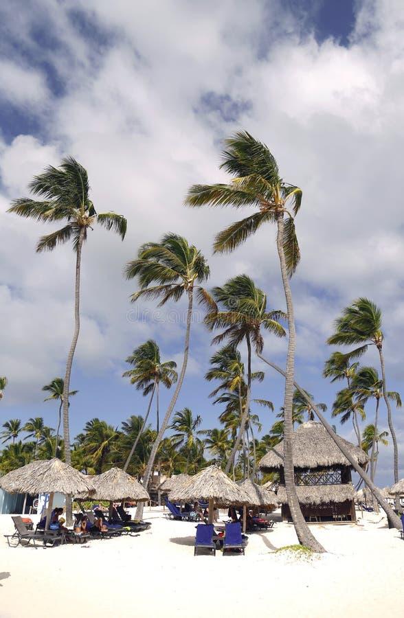 Maintenant les invités inclusifs d'hôtel de Larimar appréciant chez le Bavaro échouent dans Punta Cana, République Dominicaine  photographie stock libre de droits