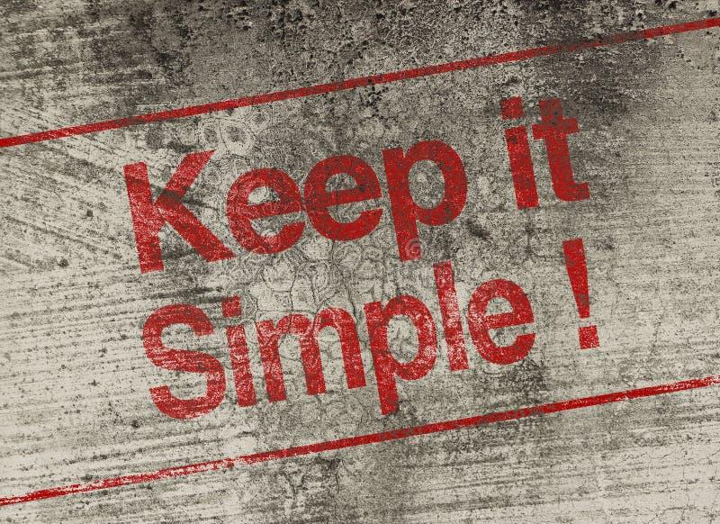 Maintenez-le simple images stock