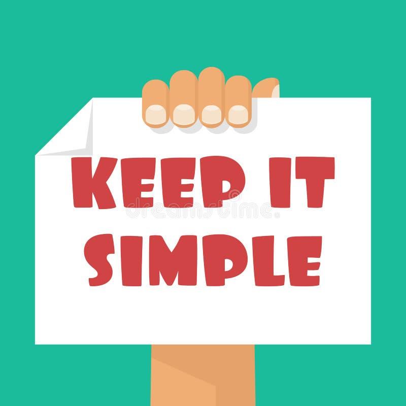 Maintenez-le simple illustration libre de droits