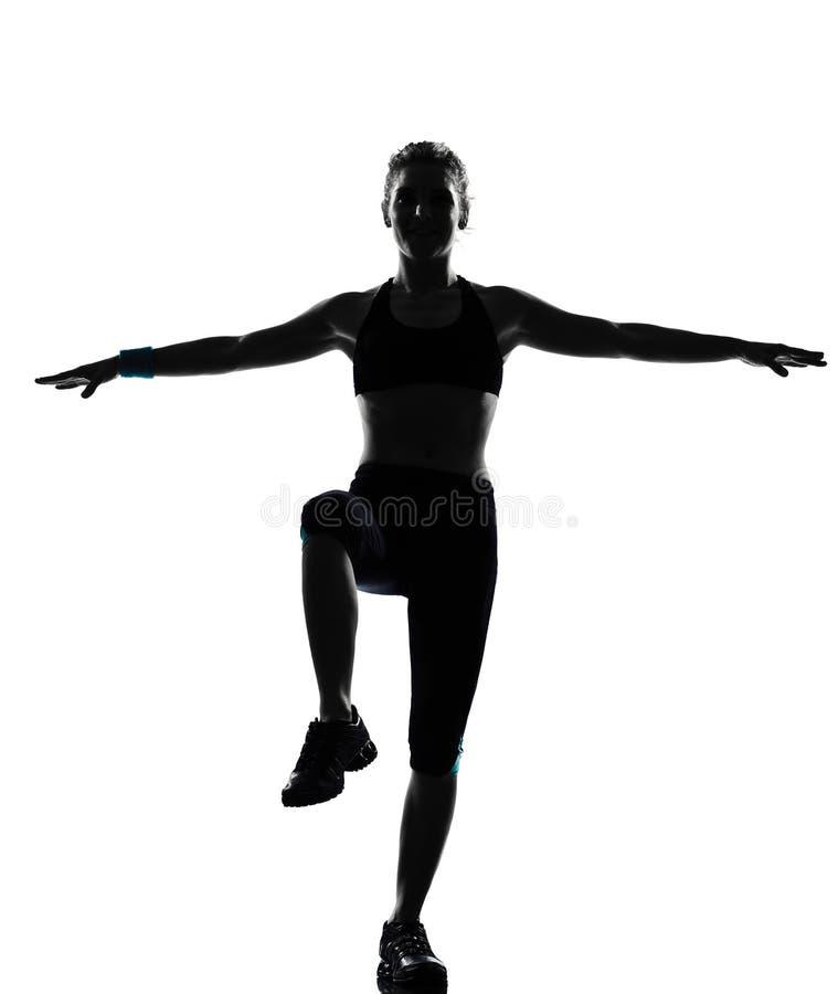 Maintien de forme physique de séance d'entraînement de femme photos libres de droits