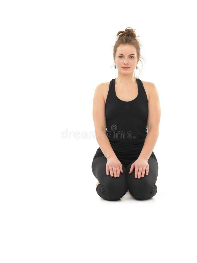 Maintien de yoga de méditation images libres de droits