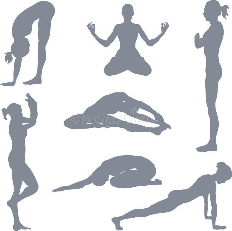 Maintiens de yoga illustration stock