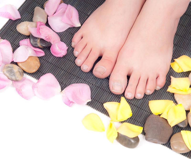 Mainting Healthy Feet and Nails stock images