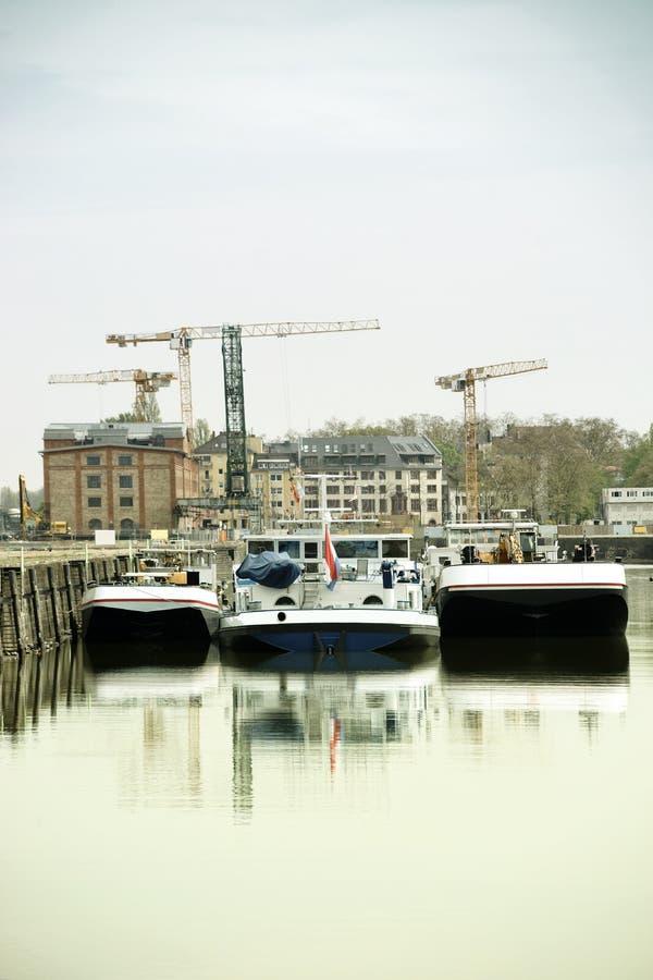 Mainz śródlądowy port fotografia royalty free