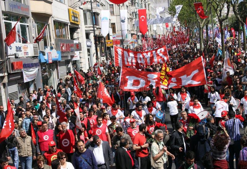 Maio 1 em Istambul imagens de stock royalty free