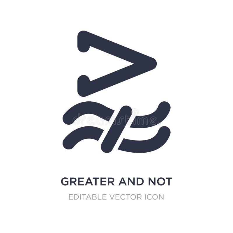 maior e não aproximadamente igual ao ícone no fundo branco Ilustração simples do elemento do conceito dos sinais ilustração do vetor
