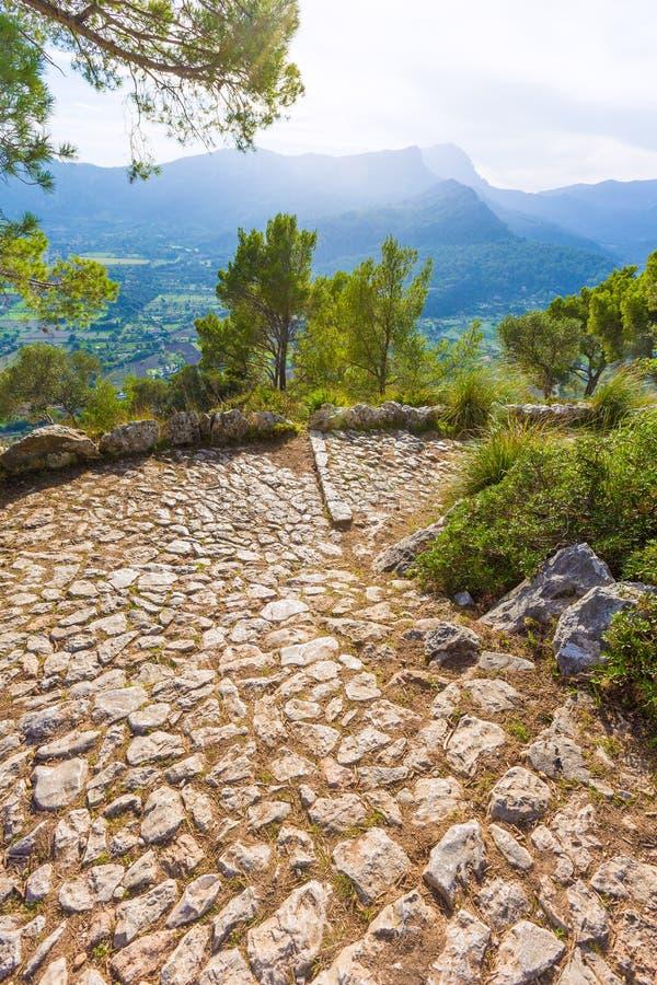 Maiorca Puig de Maria Pollenca Pollensa in Mallorca fotografie stock