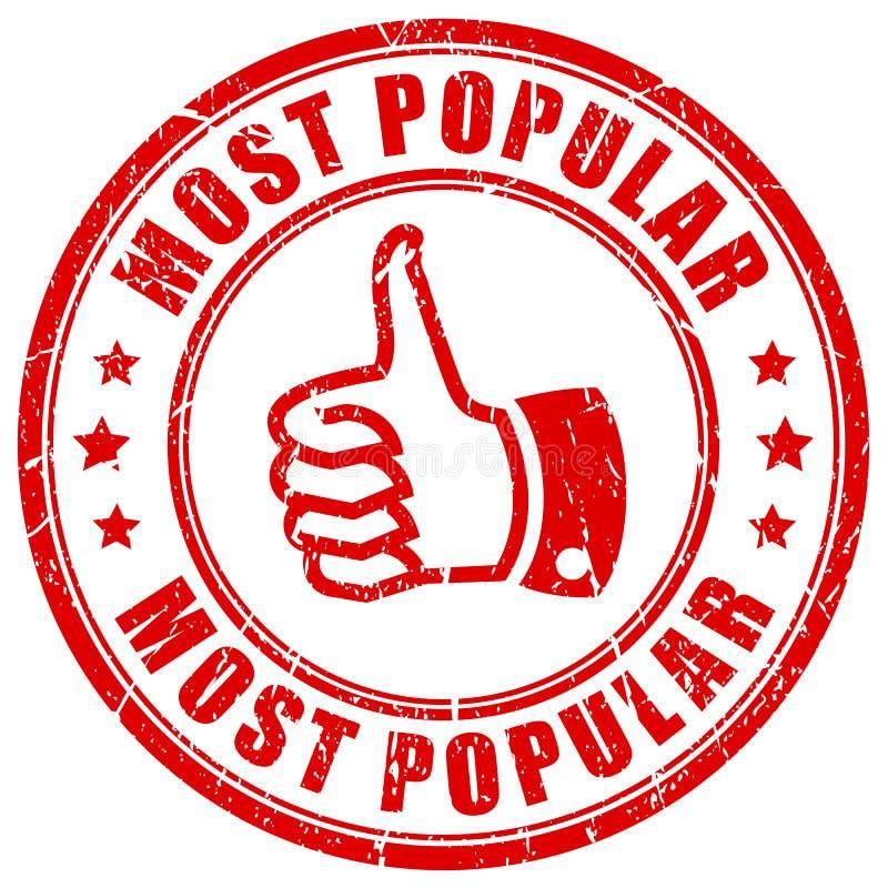 A maioria de carimbo de borracha popular ilustração royalty free