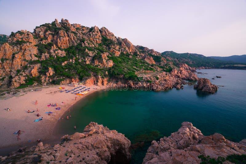 A maioria de ilha bonita em Europa A água a mais clara no mar Mediterrâneo Costela Paradiso foto de stock