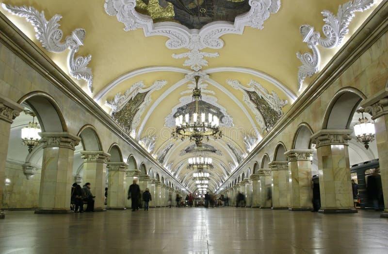A maioria de interior bonito do metro foto de stock royalty free