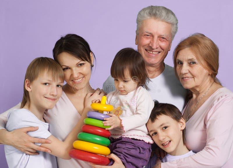 A maioria de tolo feliz da família caucasiano fotos de stock royalty free