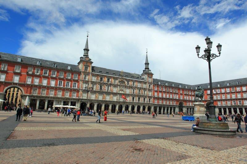 Maire de plaza à Madrid photographie stock