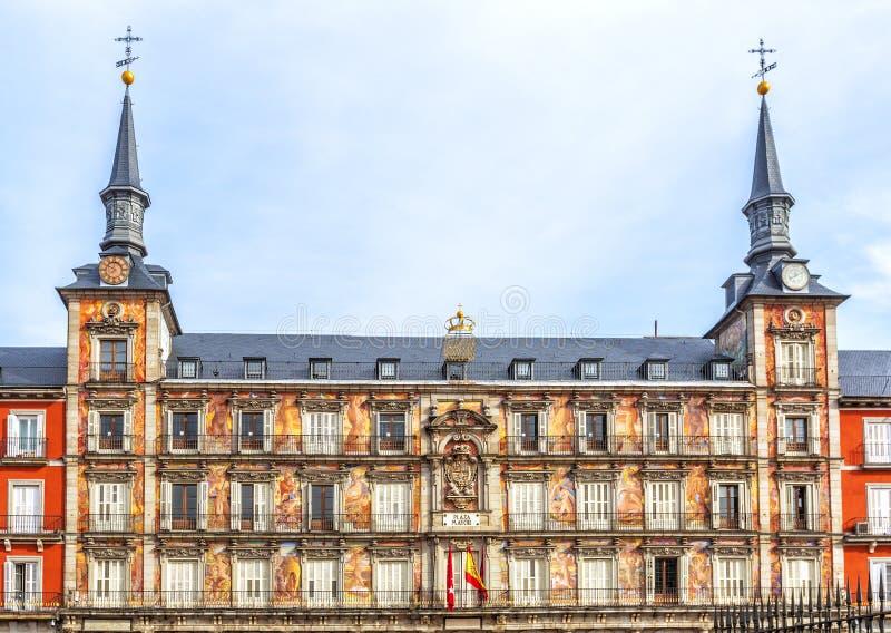 Maire de plaza à Madrid, Espagne image stock