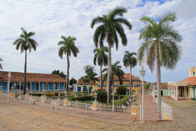 Maire de plaza au centre du Trinidad image libre de droits
