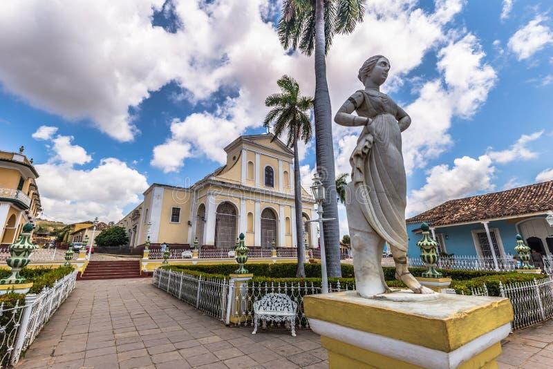 Maire de plaza au Trinidad, Cuba images libres de droits