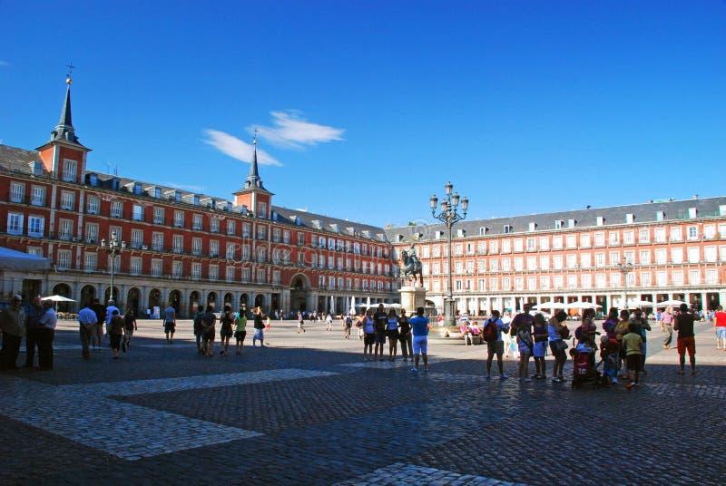 Maire de plaza, Madrid images stock