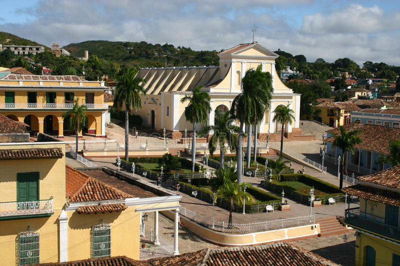 Maire de plaza, Trinidad, Cuba photo stock