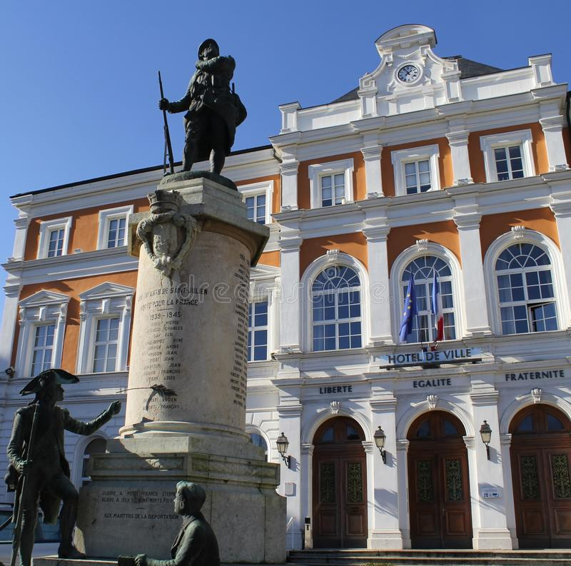 Maire, hall, Mairie images stock