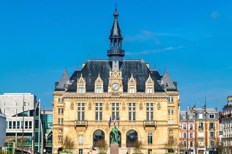 Mairie de Vincennes, Vincennes城镇厅在巴黎,法国附近的 免版税库存照片