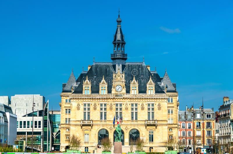 Mairie de Vincennes, stadshuset av Vincennes nära Paris, Frankrike royaltyfri bild