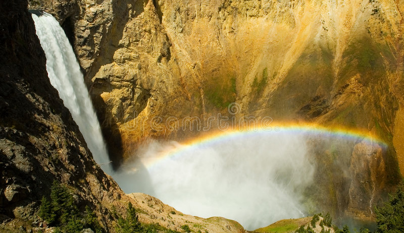 Mais baixas quedas de Yellowstone imagens de stock royalty free